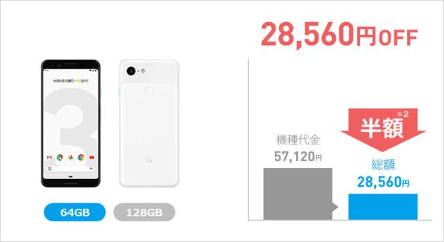 ソフトバンクでPixel 3シリーズが最大5万5680円の大幅値下げ