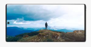 風景がが映るドコモのGalaxy Note10+ SC-01M本体