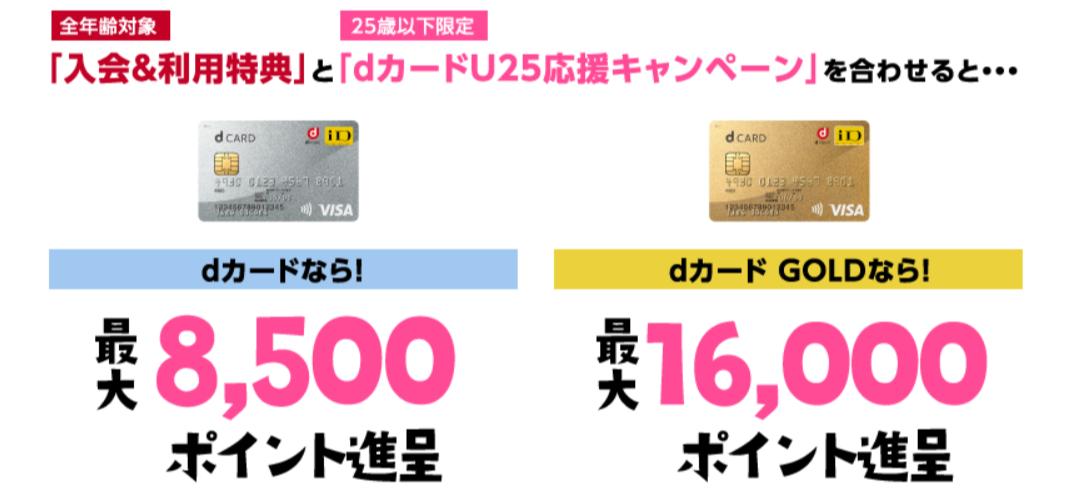 dカード U25応援キャンペーン