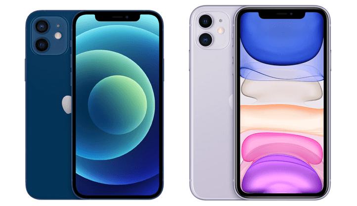 iPhone12とiPhone11