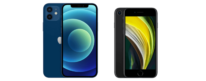 iphone12とiPhoneSEの比較