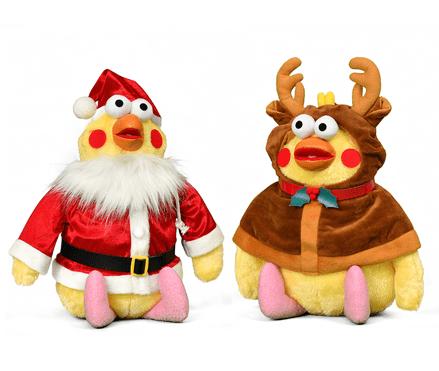 ポインコ クリスマスぬいぐるみ(兄弟セット)