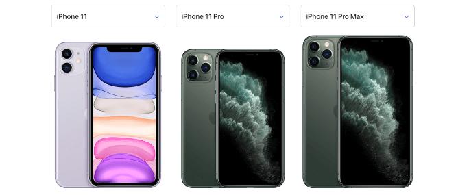 iPhone11シリーズ比較