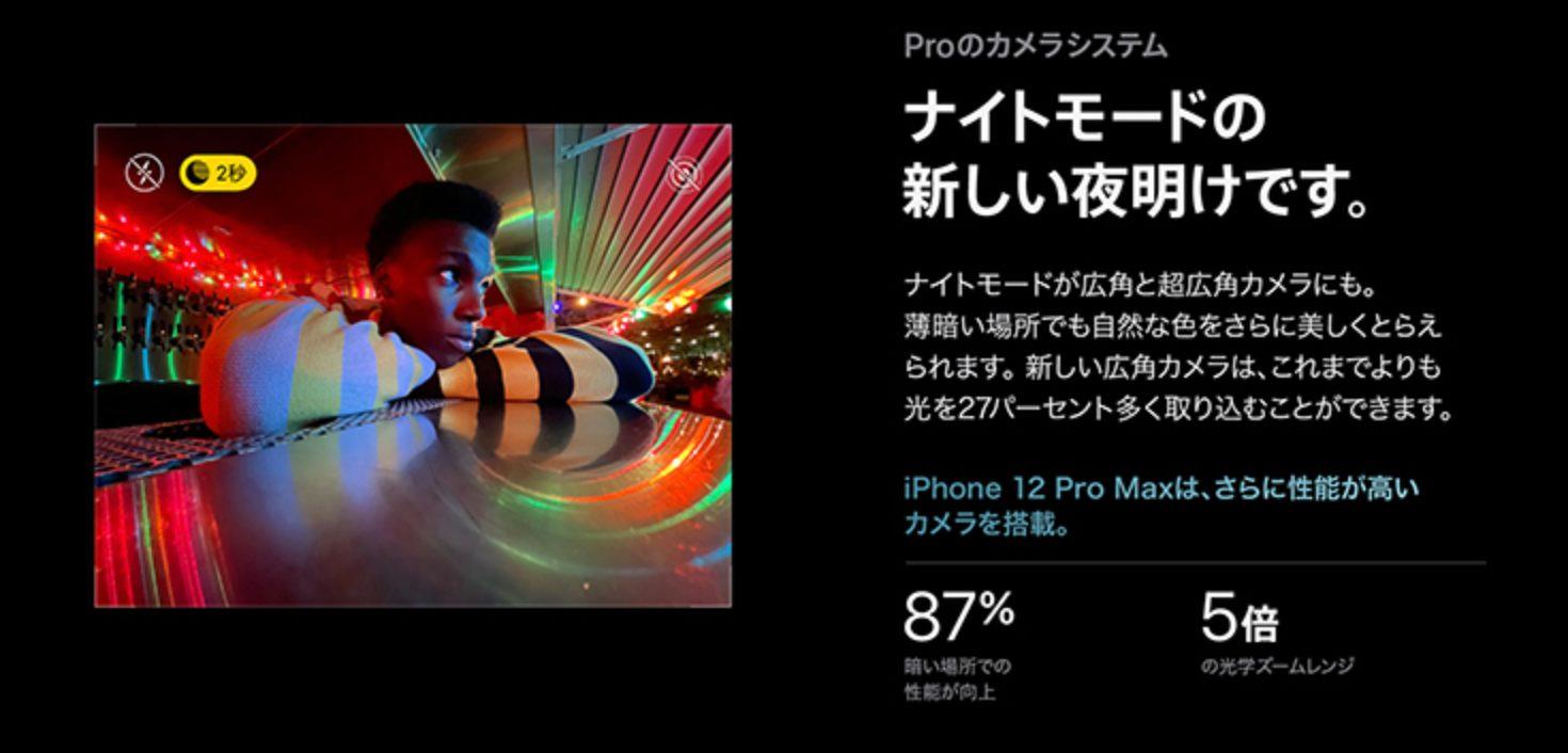 iPhone12 Proのナイトモード