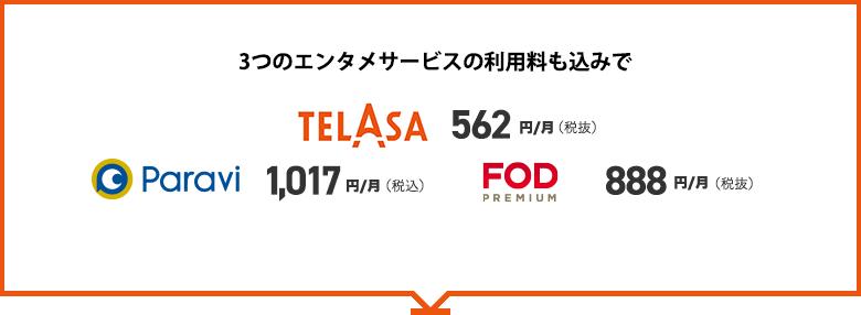 データMAX 4G LTE テレビパック