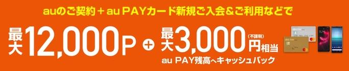 au Online Shop au PAY カード加入・支払い設定特典