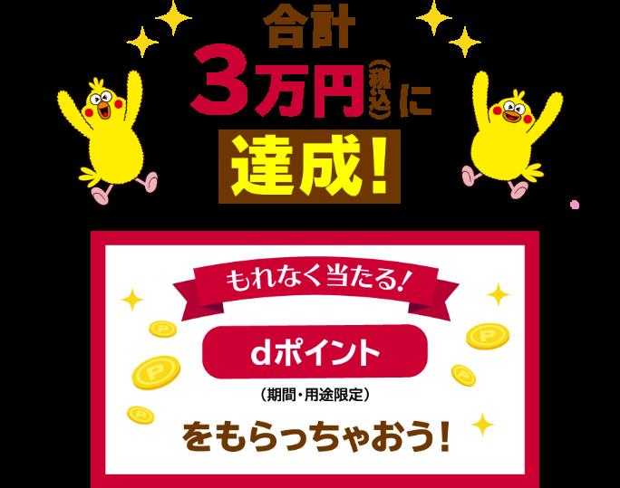 dカード GOLD春の総額3億円還元キャンペーン!