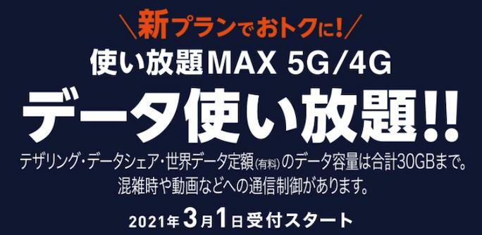 使い放題MAX 4G