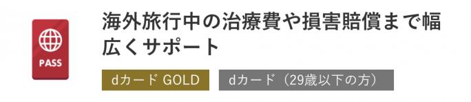 dカード GOLDの海外保証