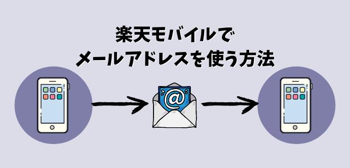 メール 楽天 アドレス モバイル 楽天モバイルにメールアドレスはある?機種変更した時の設定方法
