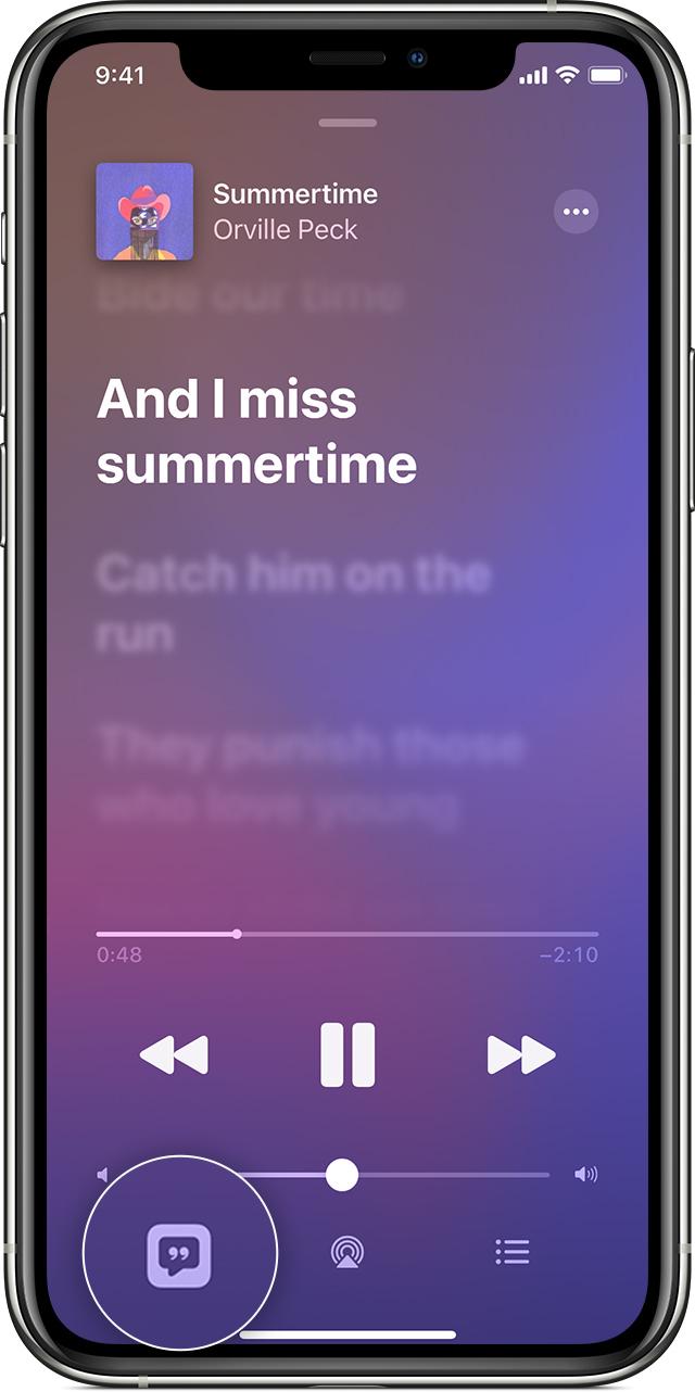 Apple Musicの歌詞表示