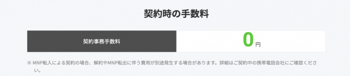 LINEMO(ラインモ)の契約事務手数料