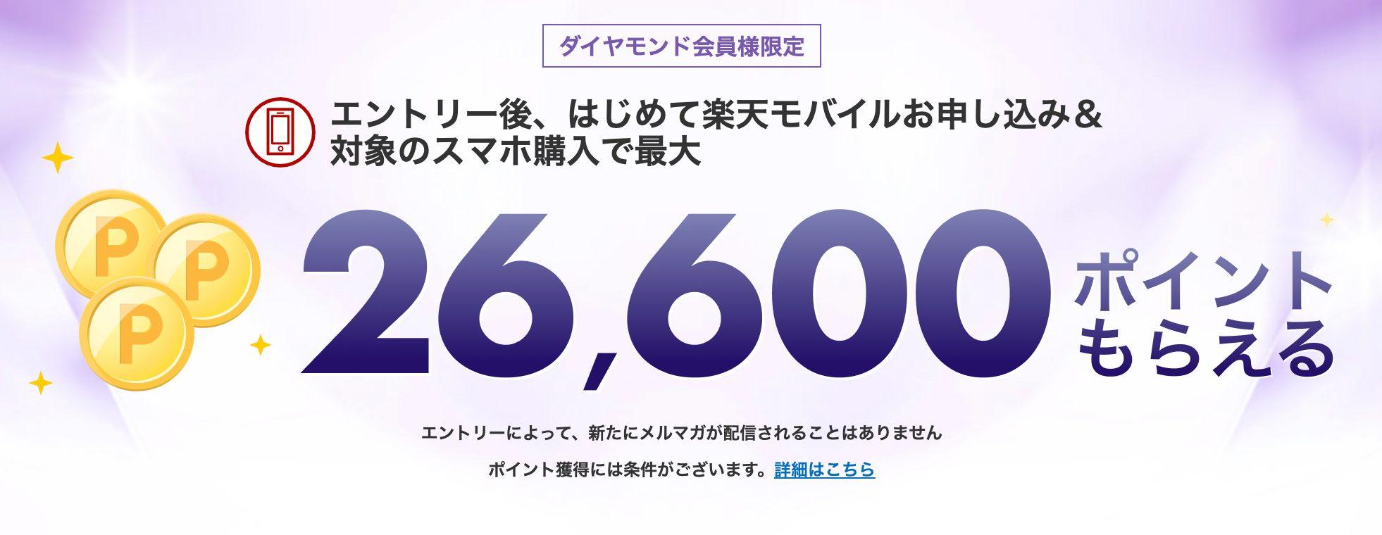 楽天会員は最大1,600ポイント還元
