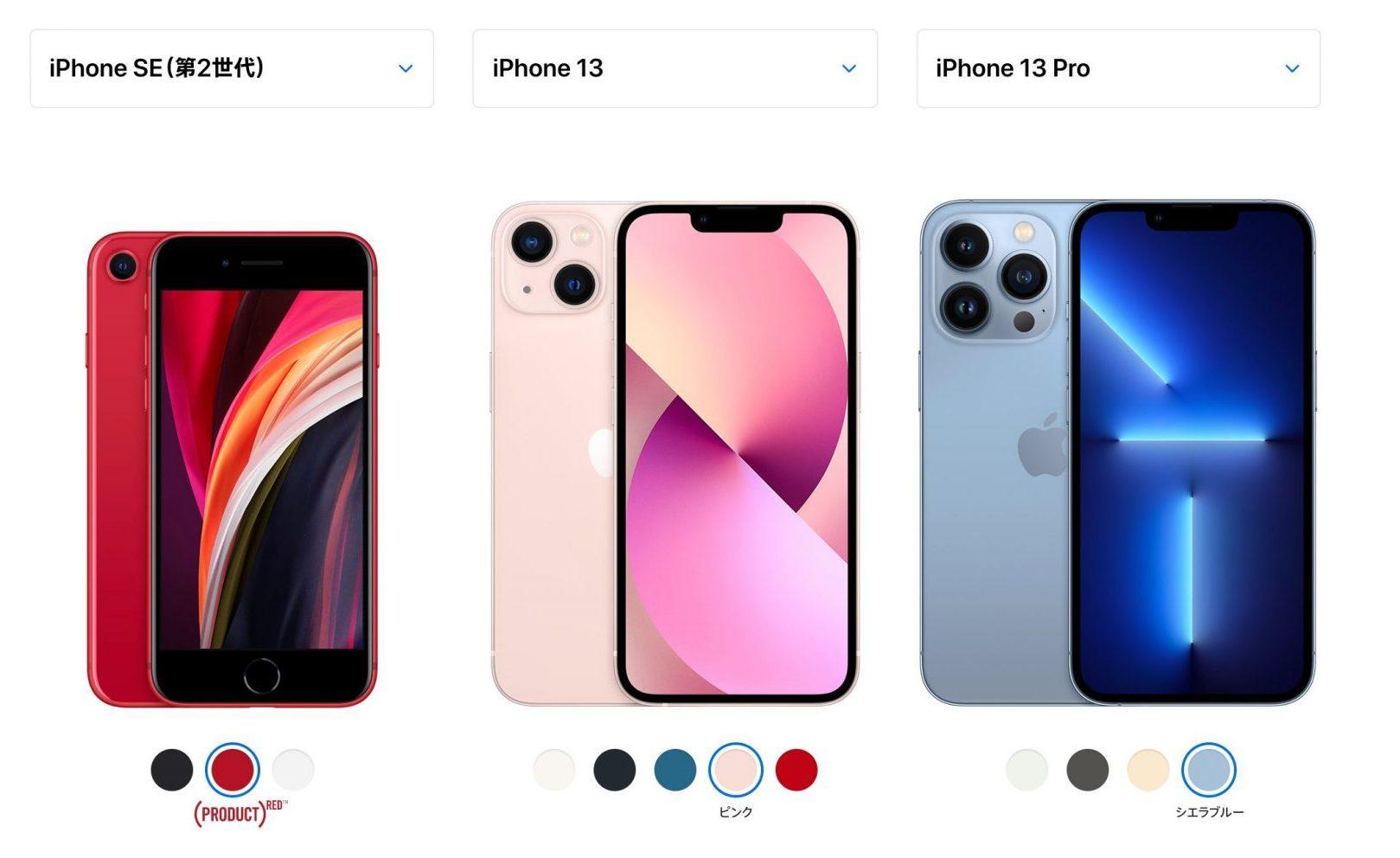 iPhone SE2とiPhone13