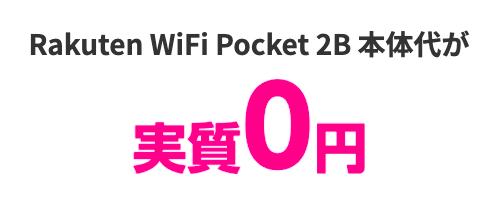 Rakuten WiFi Pocket 2実質0円
